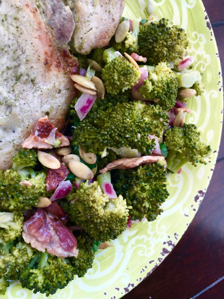 Low Carb Broccoli Bacon Salad Recipe